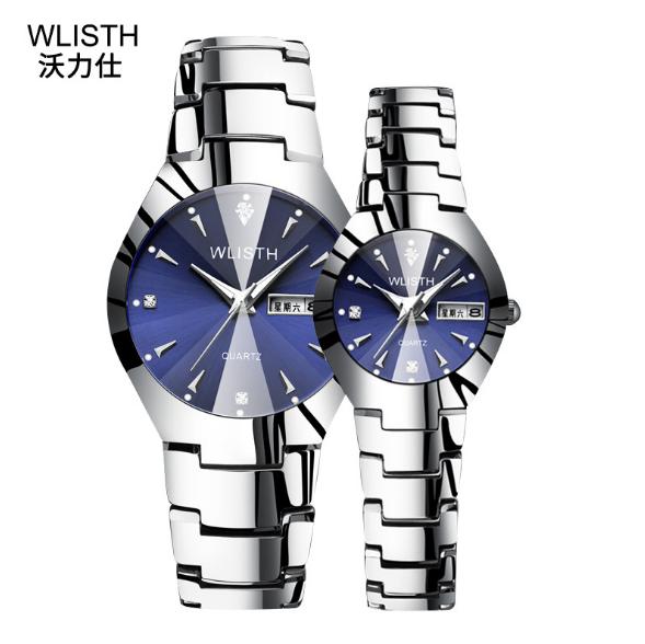 wlisth手表 男套装情侣手表 夜光防水钢带手表 钢带手表厂家 广州钢带手表 厂家直销钢带手表 广州钢带手表厂家 女表