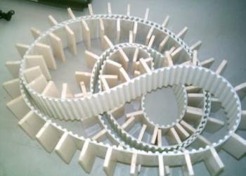 白色PVC输送带图片