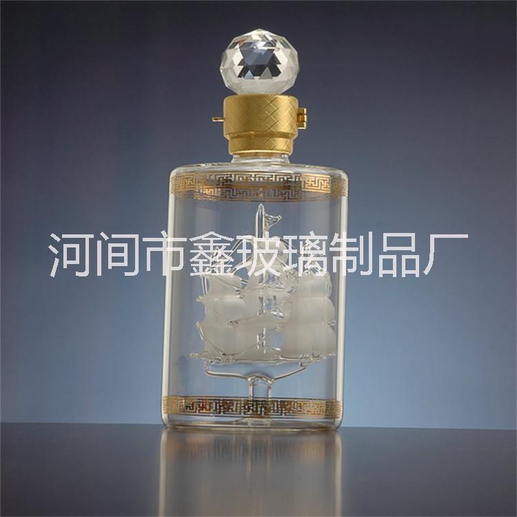 河间玻璃酒瓶厂家定制各种高硼硅玻璃酒瓶