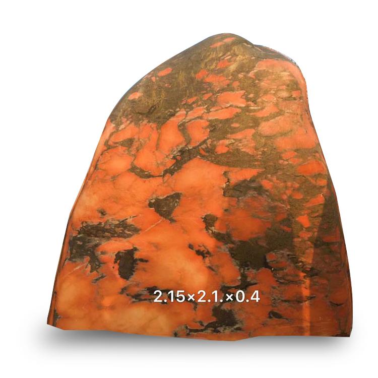 河北晚霞红曲阳自然石风景石园林石生态石