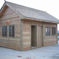 郑州防腐木花架地板围栏木屋别墅凉亭园林景观古建桑拿 地板木屋报价