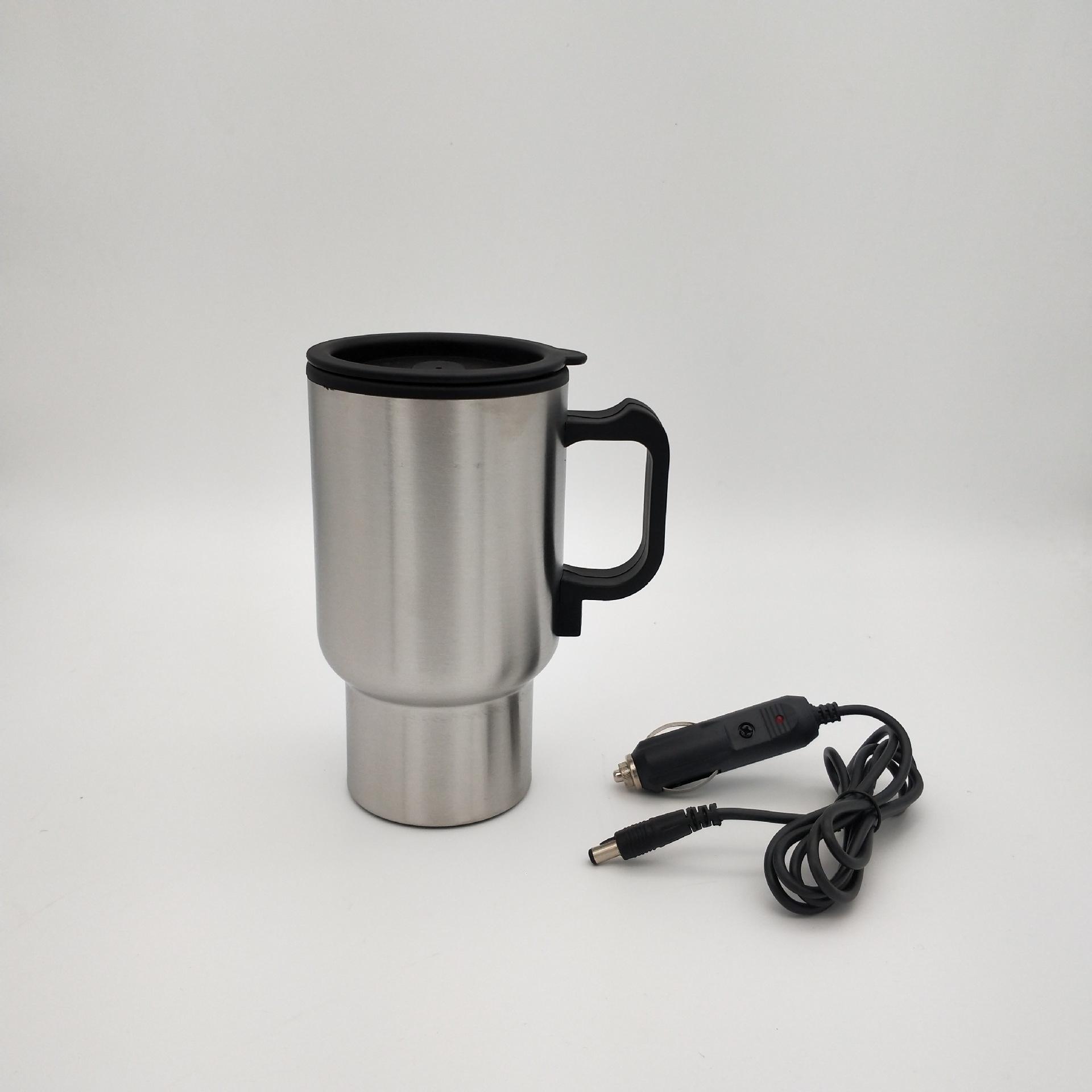 插电汽车杯电热水杯12V车用保温杯不锈钢电热烧水杯旅行车载加热杯子
