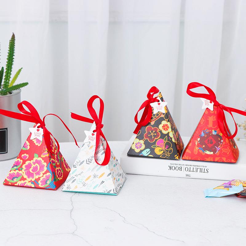 三角形状包装盒包装盒厂家批发卡纸包装盒卡通糖果礼品盒现货礼品盒盒定做 包装盒子 礼品包装盒