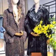 冬季高端女装玛诗玛丽羽绒皮草大衣品牌折扣女装走份批发图片