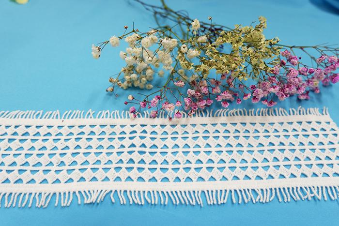 水溶牛奶丝棉线刺绣网布绣花花边销售