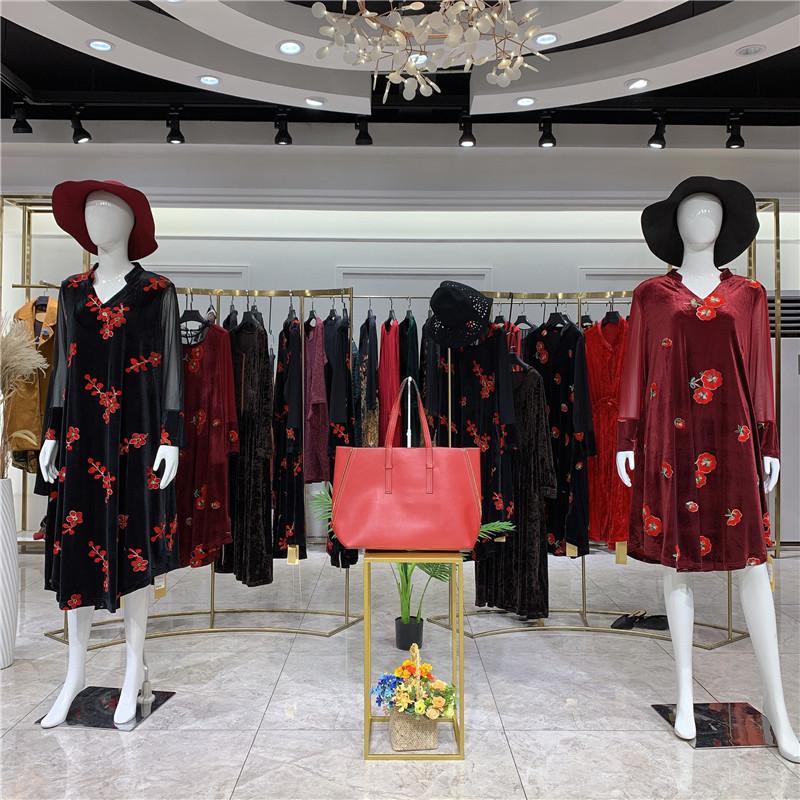 香港设计师女装品牌圣娜依儿 连衣裙 走份批发 淘宝直播货源