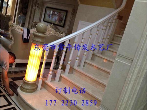 东莞实木铁艺玻璃楼梯扶手定制安装厂家