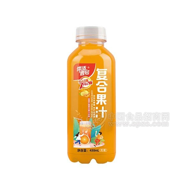 体适壹号香橙柠檬味复合发酵果汁饮料450ml 柠檬味果汁饮料