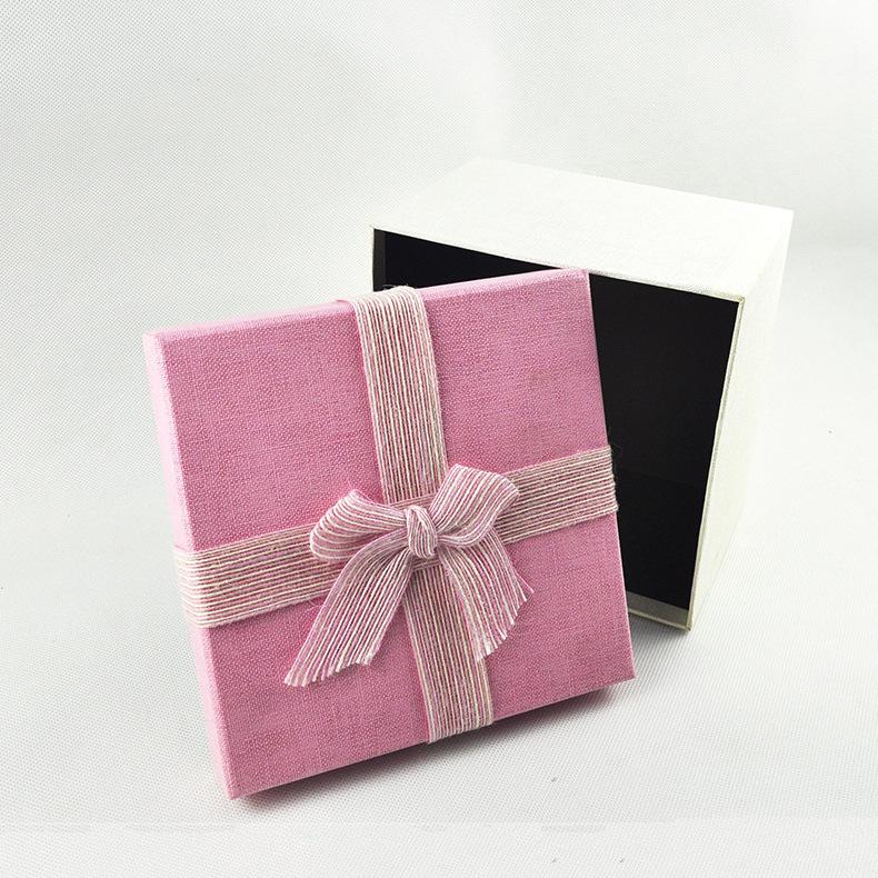 生日礼物 礼品盒 粉色礼品盒 方形礼盒 精美礼品盒厂家天地盖礼盒批发