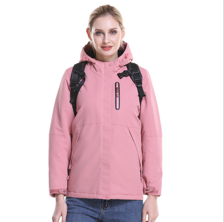 秋冬男女智能发热冲锋衣SUB碳纤维加热旅行外套冬季男女发热棉衣