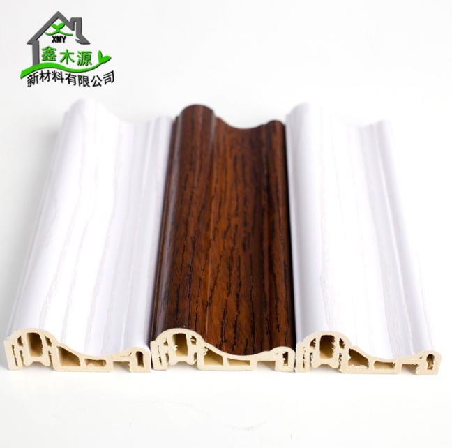 厂家直销生态木PVC框线 新型装饰材料室内装饰线条60框线