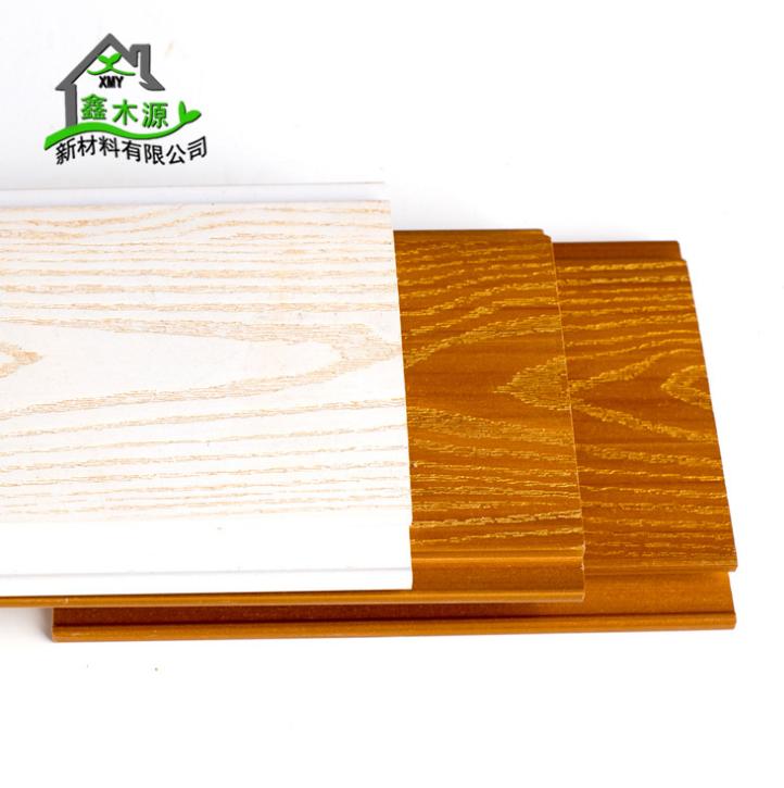 厂家直销生态木浮雕板 室内塑木装饰护墙板PVC木塑105擦金浮雕板