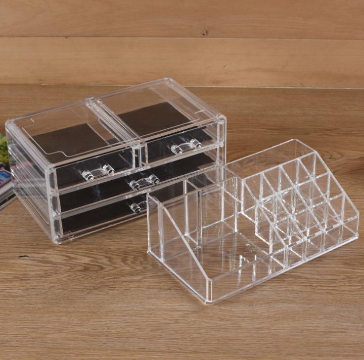 有机玻璃定制 亚克力展示架 化妆品展示盒 透明口红收纳盒定做 化妆品展示盒报价 化妆品展示盒批发