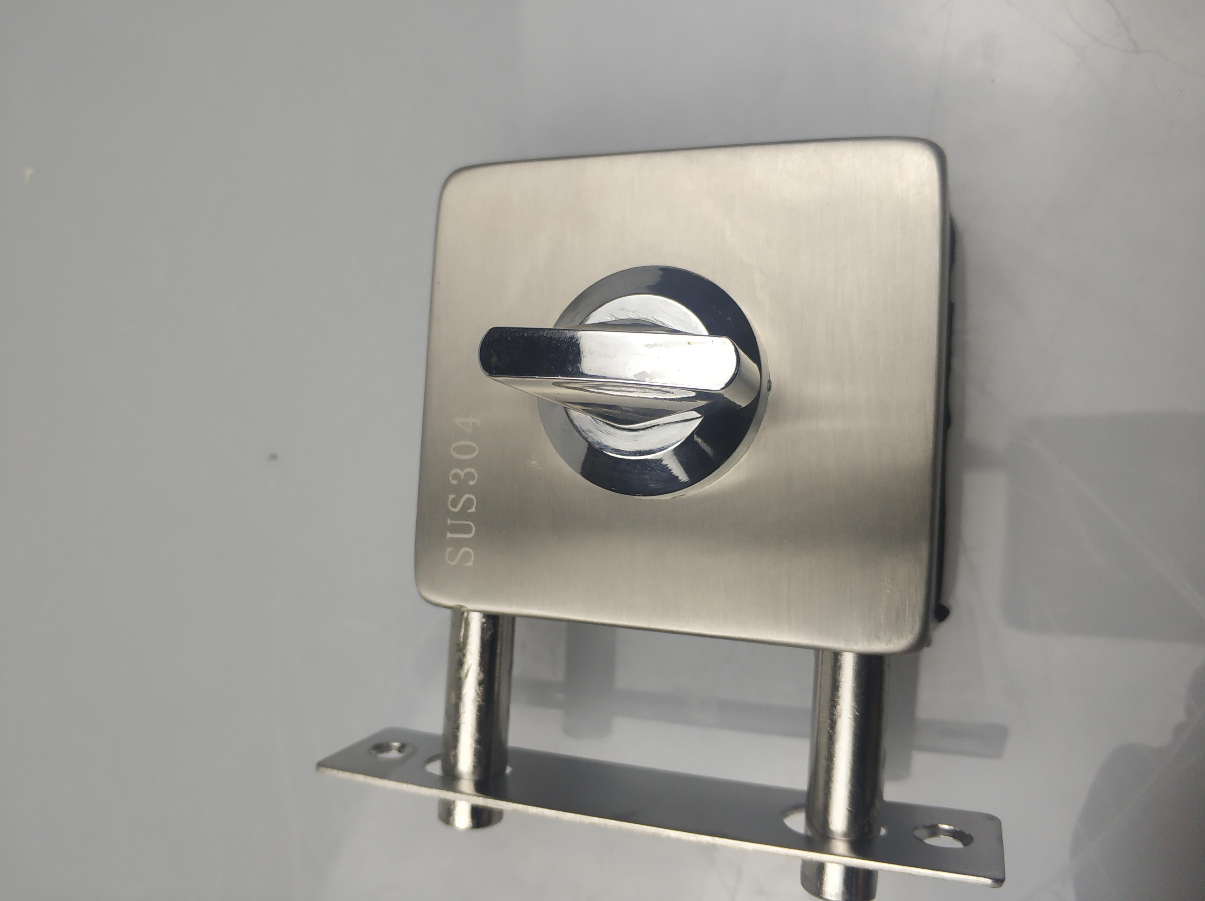 玻璃门中央锁 办公室门锁 免开孔门锁Z-606-厂家