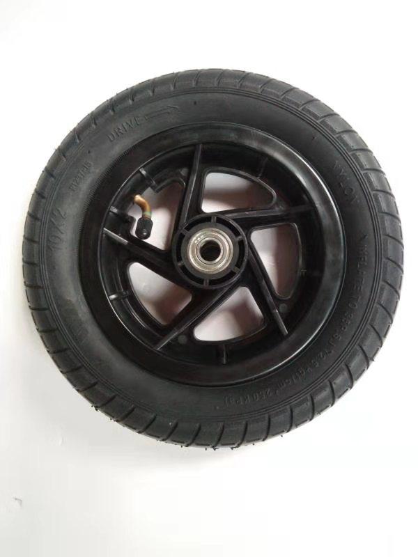 萱德10*2充气轮子 膝盖车轮 四轮车轮 10寸单腿车轮