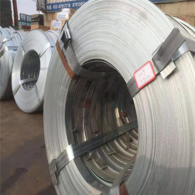 L厂家可配送 供应商 打包用镀锌带钢 Q195 质优价廉 0.8*32mm  哪里便宜