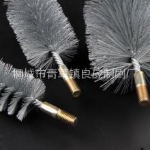 合肥市专业定做钢丝毛刷辊 钢丝刷价格 大量批发管道通刷图片