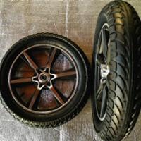 厂家直销16*3.0电动车轮子 电动三轮车轮子 16寸电动车铝合金轮子