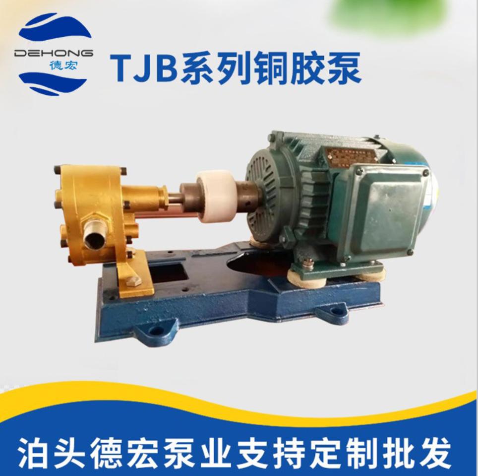 灌胶机齿轮泵 现货直销TJB系列铜胶泵 上糊机专用无泄漏铜胶泵 灌胶机齿轮泵厂家