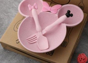麦秸秆儿童餐具套装图片
