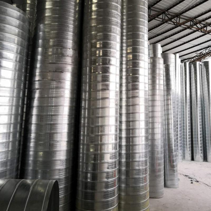 镀锌风管定制 加工定做通风管道 螺旋镀锌风管 不锈钢风管厂家