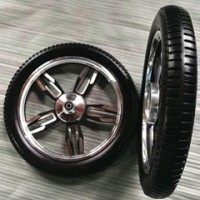 厂家直销16*2.125PU实心铝合金轮子 实心轮子 医疗床用轮子 16寸铝合金鼓刹轮子