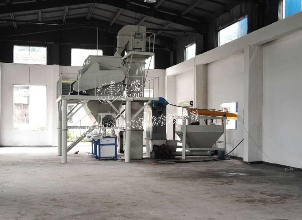 沈阳北腾轻质抹灰石膏生产线 石膏砂浆搅拌机 马路划线漆混合设备 热熔涂料生产线生产厂家