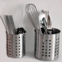 不锈钢筷子筒 不绣钢筷笼子桶 插快子捅家用创意装勺子收纳盒图片