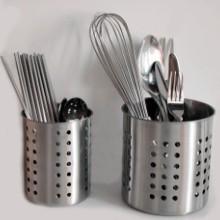 304不銹鋼放筷子筒 不繡鋼筷籠子桶 插快子捅家用創意裝勺子收納盒圖片