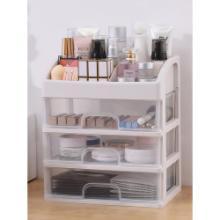 網紅化妝收納盒 整理桌面防塵家用口紅大容量 梳妝臺護膚品置物架圖片