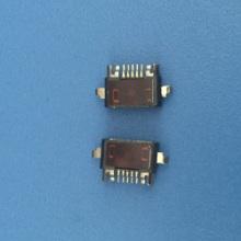 MICRO USB 5PIN前插后贴防水母座M2X12手机防水连接器母座平口图片