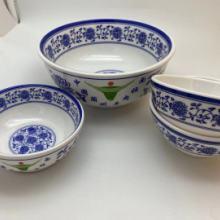 上海青花面碗批发、密胺拉面碗餐具价格、仿瓷面碗餐具厂图片